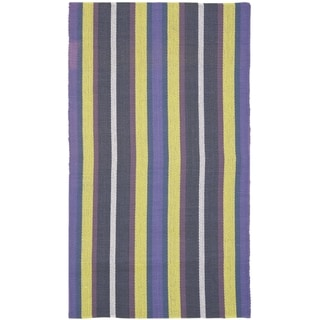 Safavieh Hand-woven Penfield Purple/ Multi Cotton Rug (9' x 12')