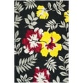 Safavieh Hand-hooked Wilton Black/ Multi New Zealand Wool Rug (7'9 x 9'9)