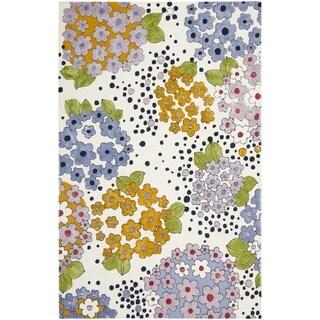 Safavieh Hand-hooked Wilton Ivory/ Multi New Zealand Wool Rug (5' x 8')