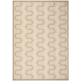 "Safavieh York Cream/Beige Striped Rug (8' x 11'2"")"