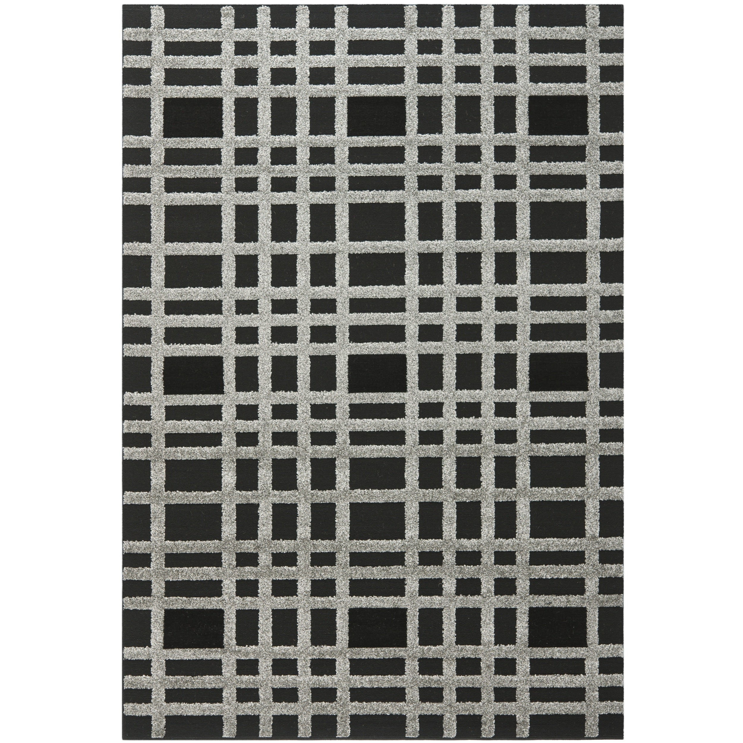 "Safavieh York Charcoal/Black Polypropylene Rug (5'3"" x 7'7"")"