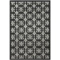 Safavieh York Grey/Black Striped Rug (5'3 x 7'7)
