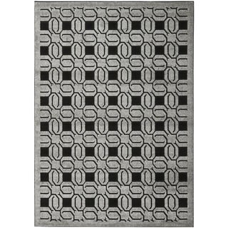 Safavieh York Grey/ Black Rug (8' x 11'2)