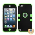 MYBAT Black/ Green Hybrid Cover for Apple iPod Touch Generation 5