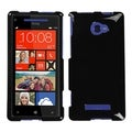 MYBAT Black Phone Protector Cover for HTC Windows Phone 8X/ 6990LVW