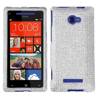 MYBAT Silver Diamante Cover Diamante 2.0 for HTC Windows Phone 8X
