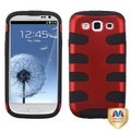 MYBAT Red/ Black Fishbone Protector Cover for Samsung Galaxy S III
