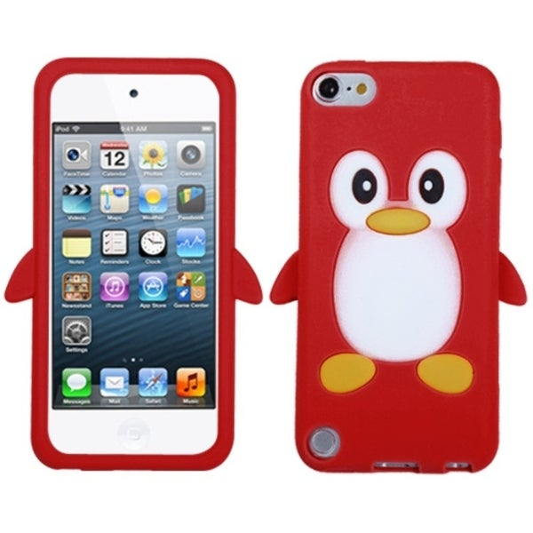 Insten Red/ White 3D Penguin Soft Silicone Skin Rubber Case Cover For Apple iPod Touch 5th/ 6th Gen