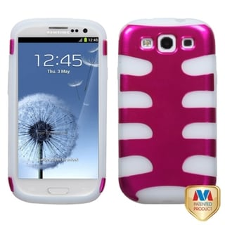 MYBAT Pink/ Clear Metallic Fishbone Cover for Samsung Galaxy S III