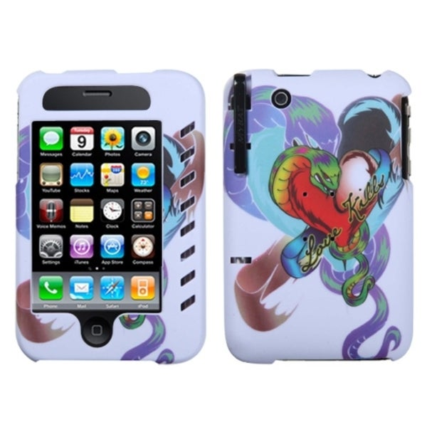 INSTEN Lizzo Snake Tattoo White Phone Case Cover for Apple iPhone 3GS/ 3G