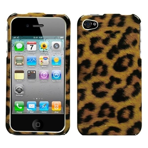 INSTEN Leopard Skin Phone Protector Cover for Apple iPhone 4/ 4S