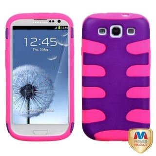 MYBAT Grape/ Electric Pink Fishbone Cover for Samsung Galaxy S III