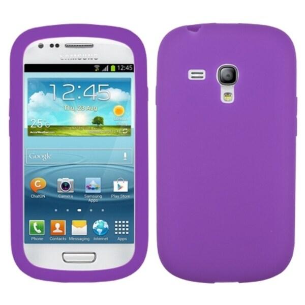 MYBAT Electric Purple Skin Case for Samsung© i8190 Galaxy S III Mini