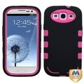 MYBAT Blush/ Black TUFF Hybrid Phone Cover for Samsung Galaxy S III