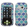 MYBAT Blue Wavelet Diamante protector cover for LG GT365 (Neon)