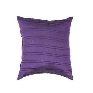 Contemporary Poly/ Silk Purple18-inch Decoratrive Square Pillow