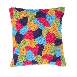 Modern Textured Muliti Color 18-inch Square Decorative Pillow