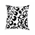 Cotton Black/ White 18-inch Square Decorative Pillow