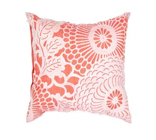 Japanese Design Coral 18-inch Decorative Square Pillow
