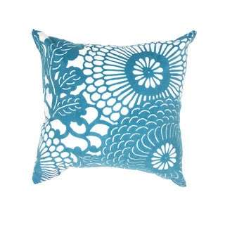 Japanese Design Blue/ White 18-inch Decorative Square Pillow