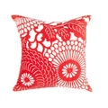 Japanese Design 18-inch Decorative Square Pillow