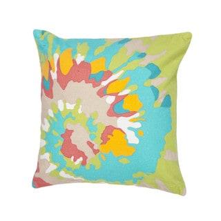 Contemporary Splash Duck Canvas Muliti Color 18-inch Decorative Pillow