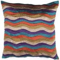Bohemian Jewel Toned Muliti Color 18-inch Square Decorative Pillow