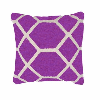 Geometric Cotton Purple 18-inch Decorative Pillow