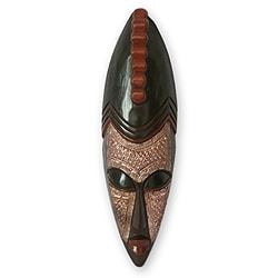 Handcrafted Sese Wood 'Antelope' African Mask , Handmade in Ghana