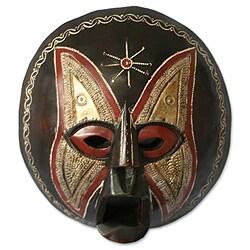 Handcrafted Sese Wood 'Monkey God' African Mask (Ghana)