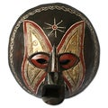 Handcrafted Sese Wood 'Monkey God' African Mask (Ghana)