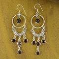 Sterling Silver 'Magical India' Amethyst Earrings (India)