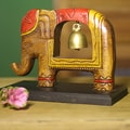 Raintree Wood and Brass 'Elephant Song' Sculpture (Thailand)