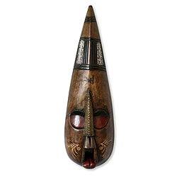Handcrafted Sese Wood 'Girls Only' African Mask (Ghana)