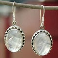 Sterling Silver 'Misty Moon' Moonstone Earrings (India)