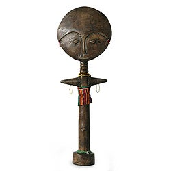Handcrafted Sese Wood 'Ashanti Mother' Fertility Sculpture (Ghana)