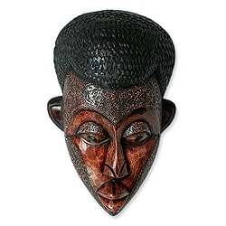 Handcrafted Sese Wood 'You Are Loved' Sculpture (Ghana)