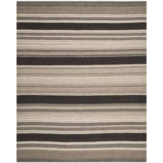 Safavieh Handwoven Moroccan Reversible Dhurrie Geometric Natural Wool Rug (9' x 12')