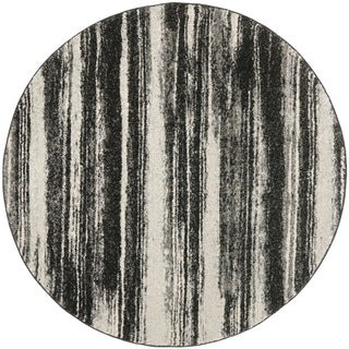 Safavieh Retro Dark Grey/ Light Grey Rug (8' x 8' Round)