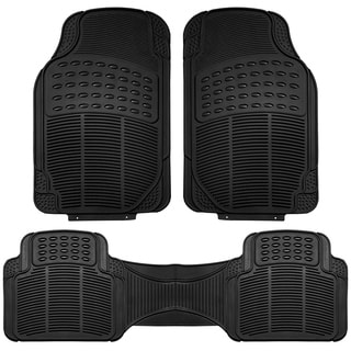 FH Group Black Vinyl Full Set Floor Mats