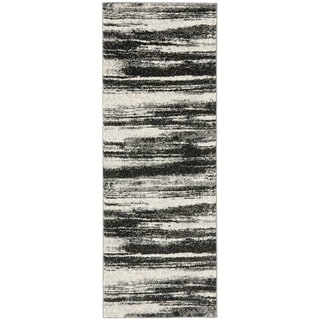Safavieh Palazzo Black Gray Over Dyed Chenille Runner Rug
