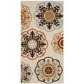 Safavieh Veranda Piled Indoor/ Outdoor Cream/ Terracotta Polypropylene Rug (2'7 x 5')