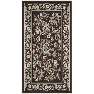 Safavieh Veranda Piled Indoor/ Outdoor Chocolate/ Aqua Rug (2'7 x 5')