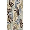 Safavieh Veranda Piled Indoor/ Outdoor Cream/ Aqua Rug (2'7 x 5')