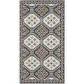 Safavieh Veranda Piled Indoor/ Outdoor Blue/ Chocolate Rug (2'7 x 5')