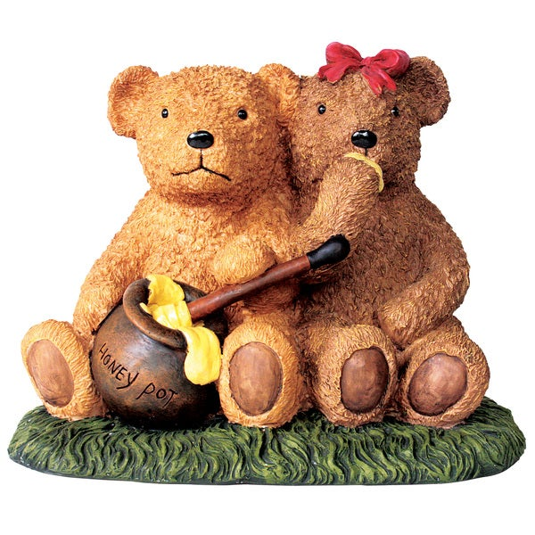 Kelkay Honey Pot Bears Decorative Accent