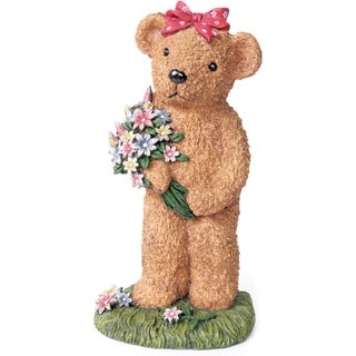 Kelkay Flower Bear Decorative Accent
