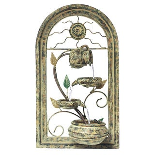 'Naples' Wall Art Resin-stone Water Fountain