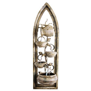 'Genoa' Wall Art Resin-stone Water Fountain