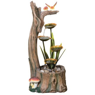 'Woodland Home' LED Self Contained Resin-stone Fountain